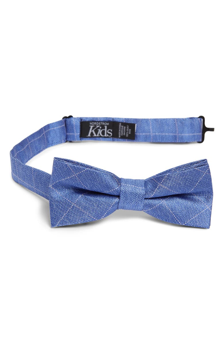 NORDSTROM Isaiah Grid Silk Bow Tie, Main, color, 400