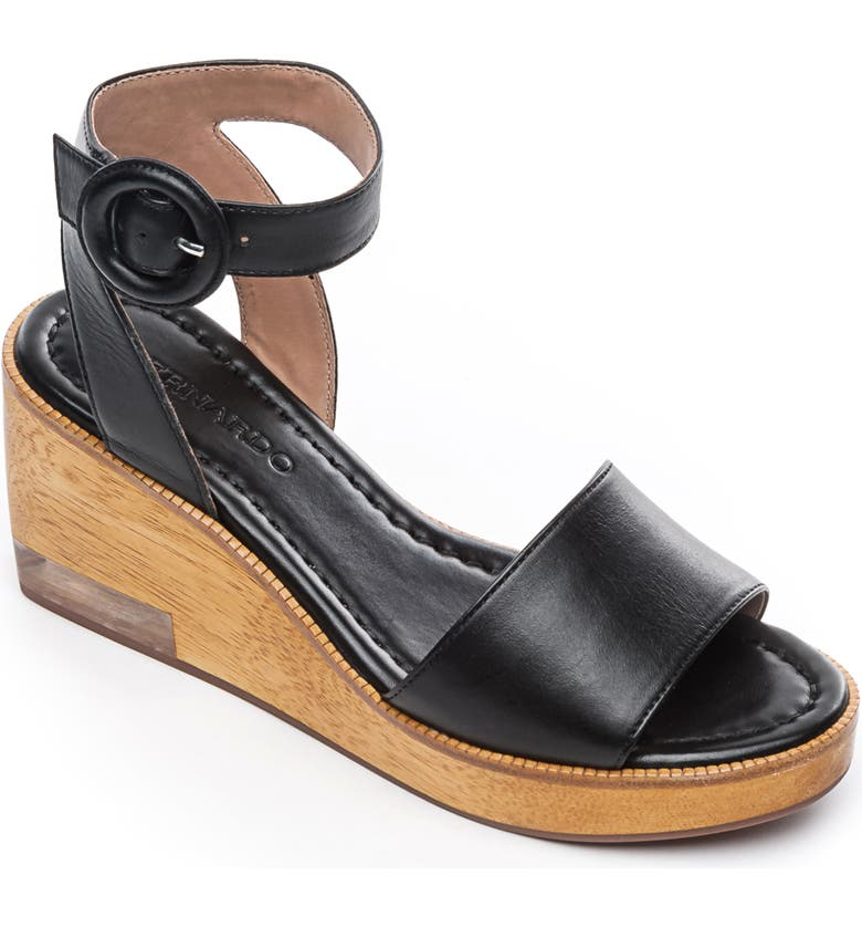 BERNARDO Kate Platform Wedge Sandal, Main, color, 001