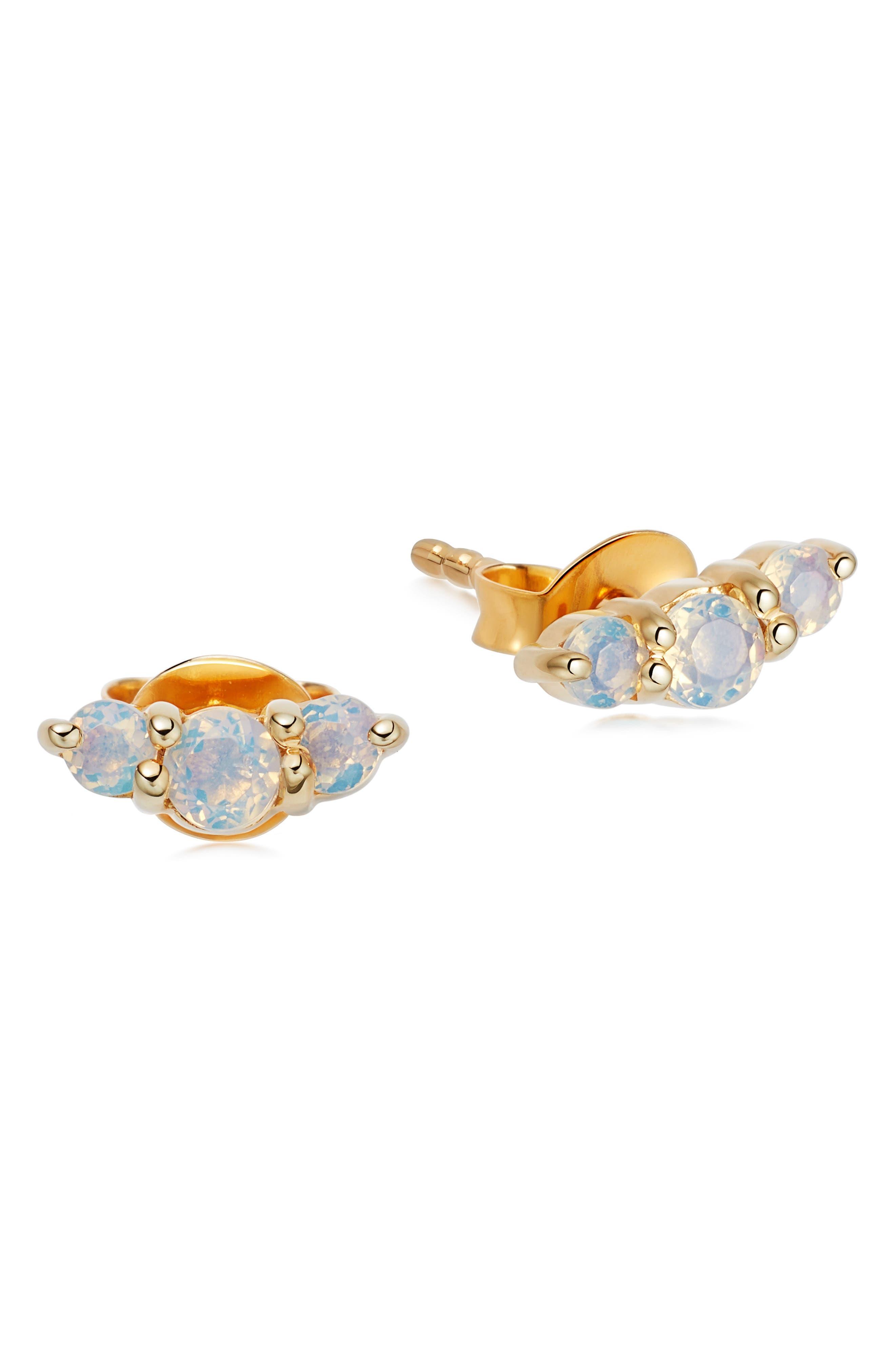 Trio Freshwater Pearl Stud Earrings