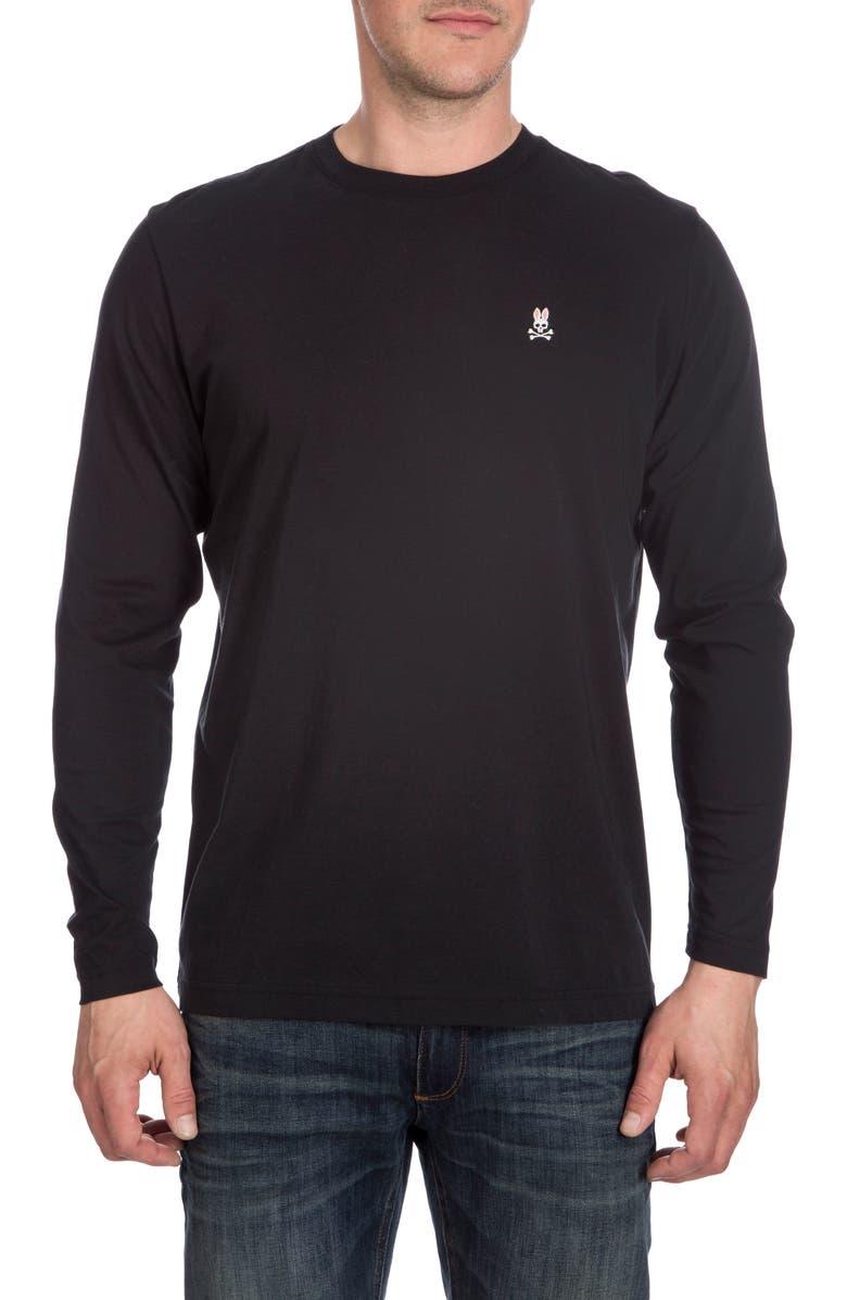 PSYCHO BUNNY Crewneck T-Shirt, Main, color, 001