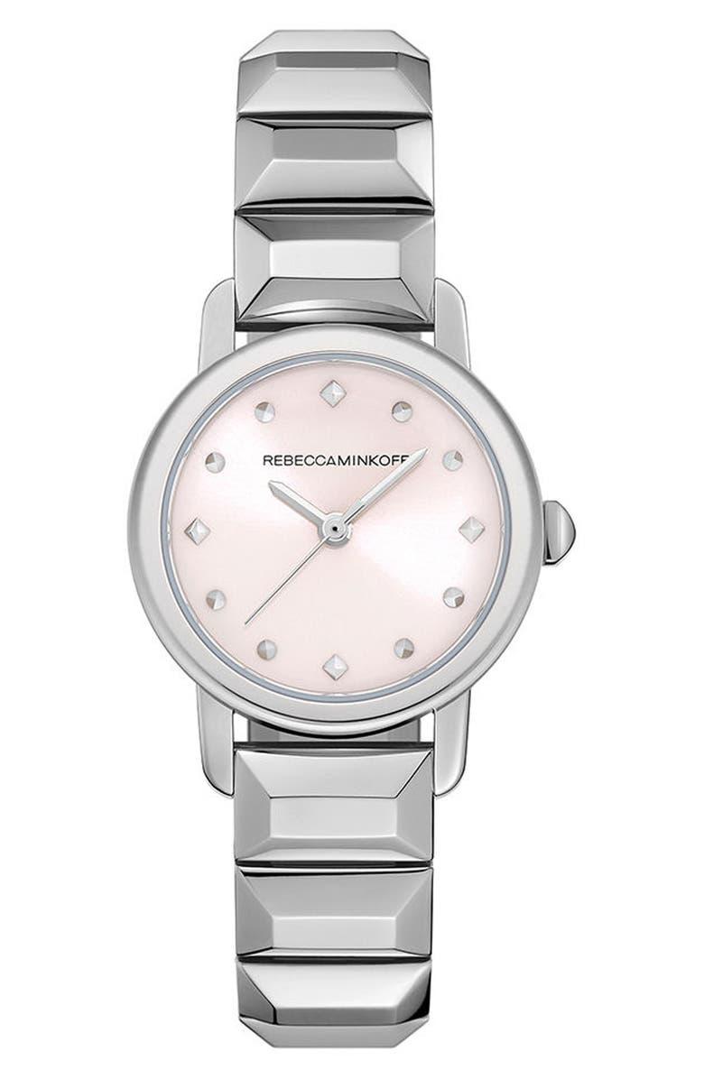 REBECCA MINKOFF BFFL Bracelet Watch, 25mm, Main, color, 040