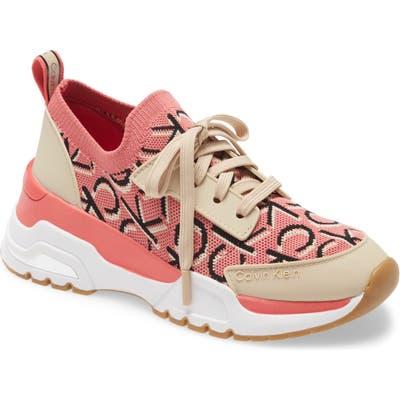 Calvin Klein Hensley Sneaker, Coral