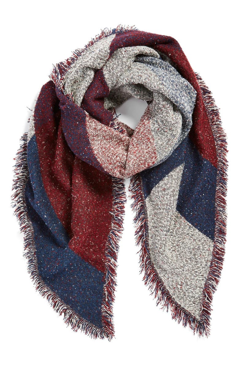 BP. Marled Colorblock Oblong Scarf, Main, color, 410