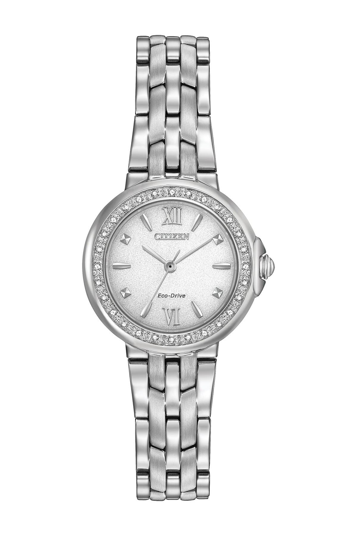 Image of Citizen Women's Eco-Drive Stainless Steel Diamond Bracelet Watch, 28mm