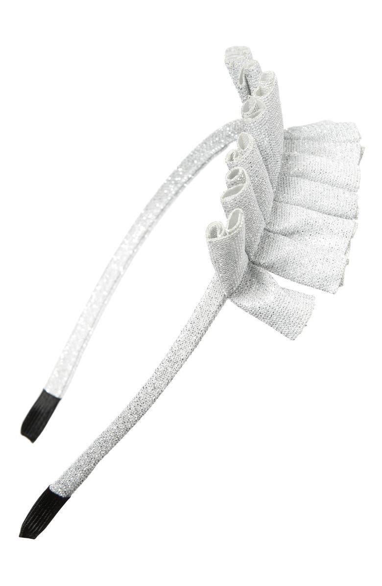 MANIÈRE Metallic Headband, Main, color, WHITE