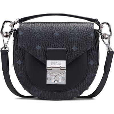 Mcm Mini Patricia Visetos Coated Canvas & Leather Shoulder Bag - Black