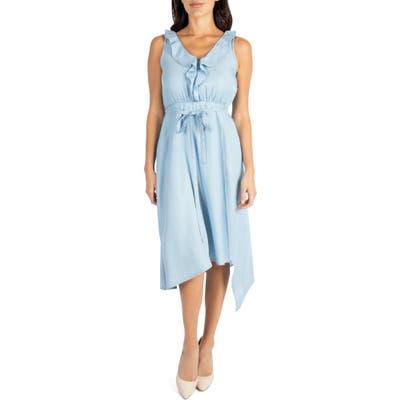 Kut From The Kloth Dacey Ruffle Sleeveless Dress, Blue