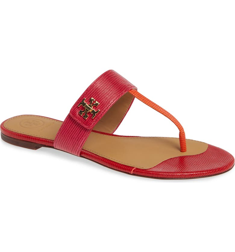 Kira Thong Sandal, Main, color, DARK AZALEA MULTI