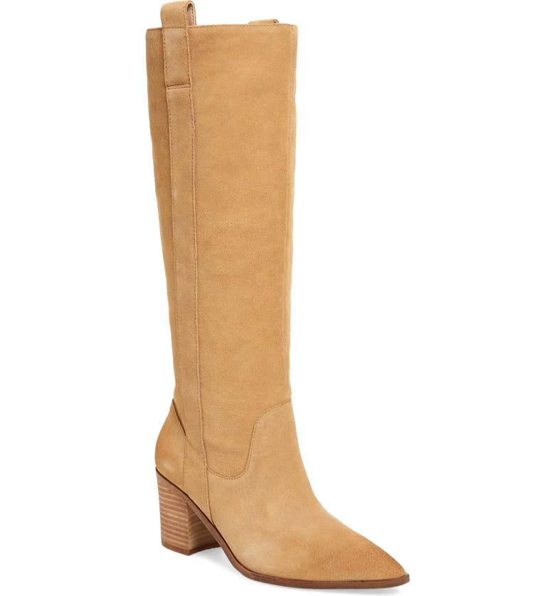 CHARLES DAVID Exhibit Knee High Boot, Main, color, BISOTTI SUEDE