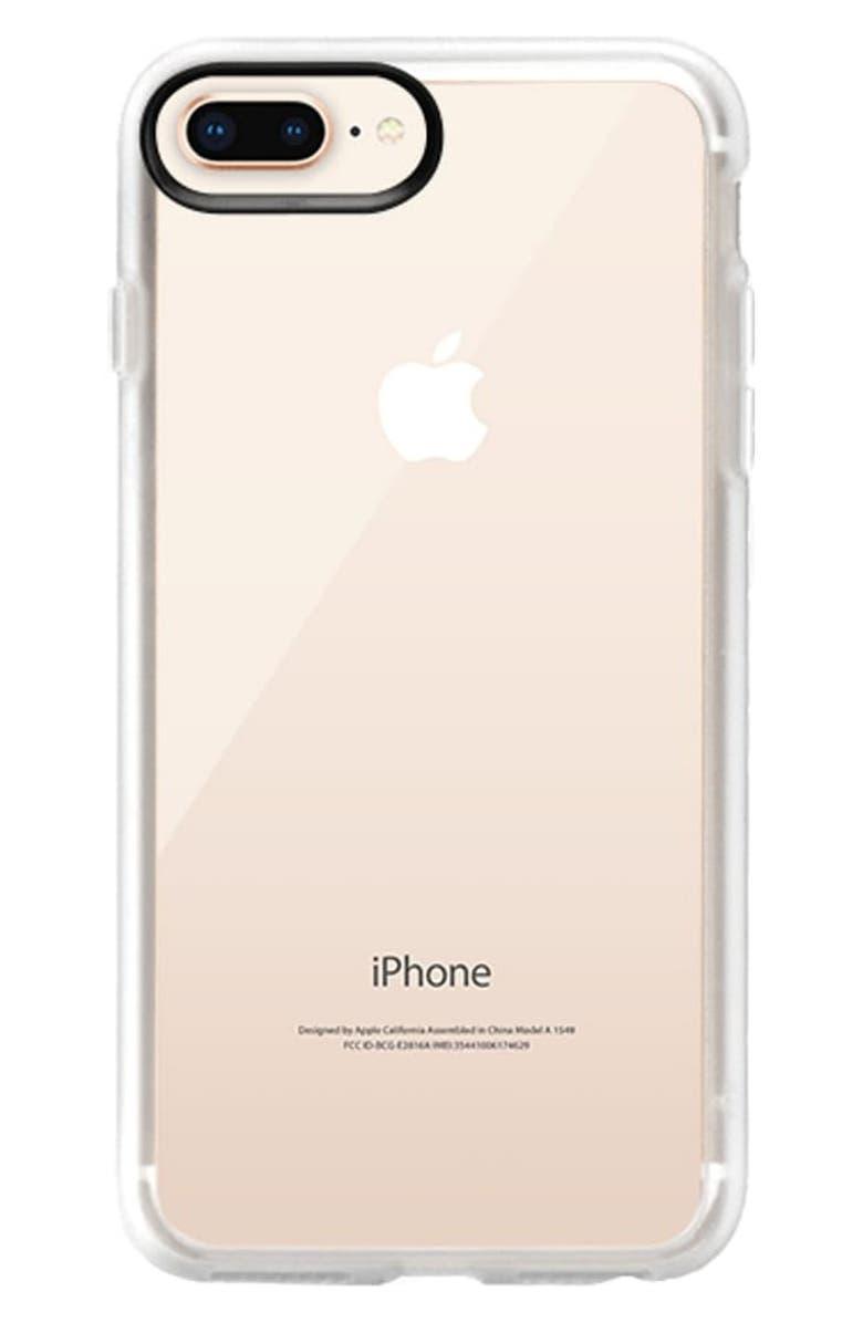 CASETIFY Classic Grip iPhone 7/8 Plus Case, Main, color, CLEAR