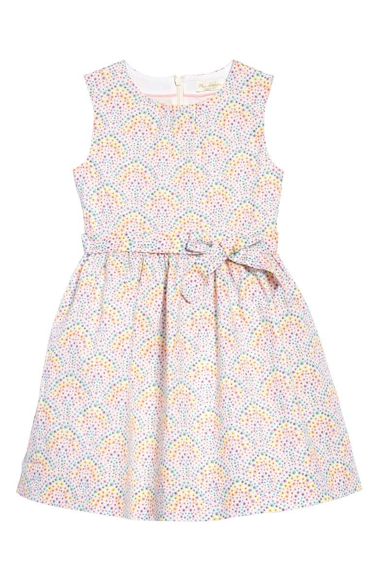 MINI BODEN Ditsy Floral Linen & Cotton Dress, Main, color, 900