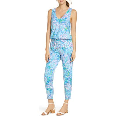 Lilly Pulitzer Paulina Sleeveless Jumpsuit, Blue