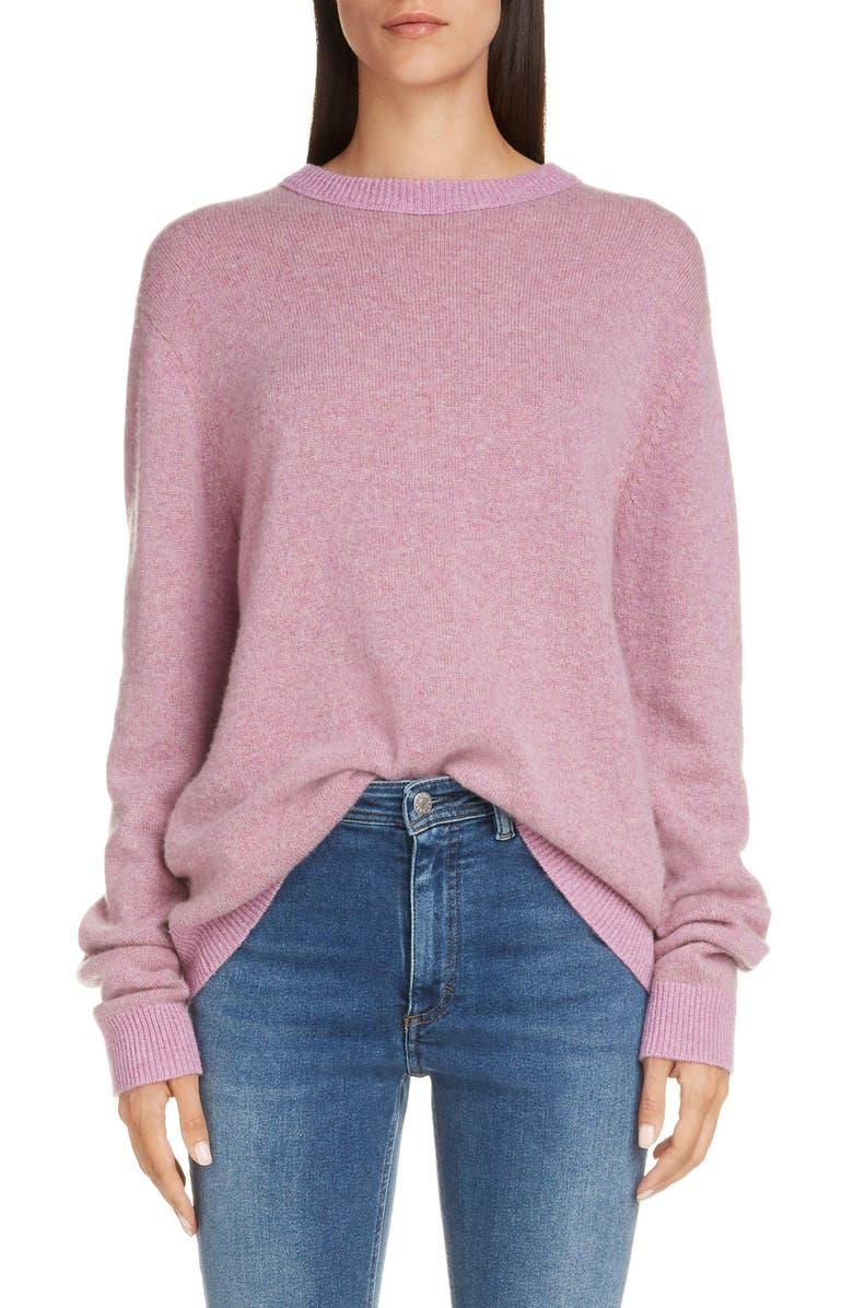 ACNE STUDIOS Kassio Cashmere Sweater, Main, color, LILAC/ CAMEL