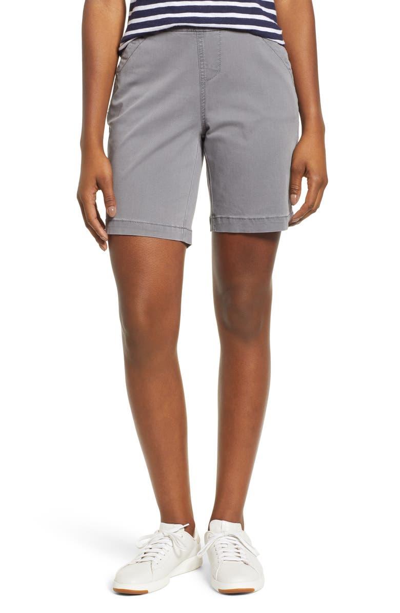 JAG JEANS Gracie Stretch Cotton Shorts, Main, color, GREY STREAK