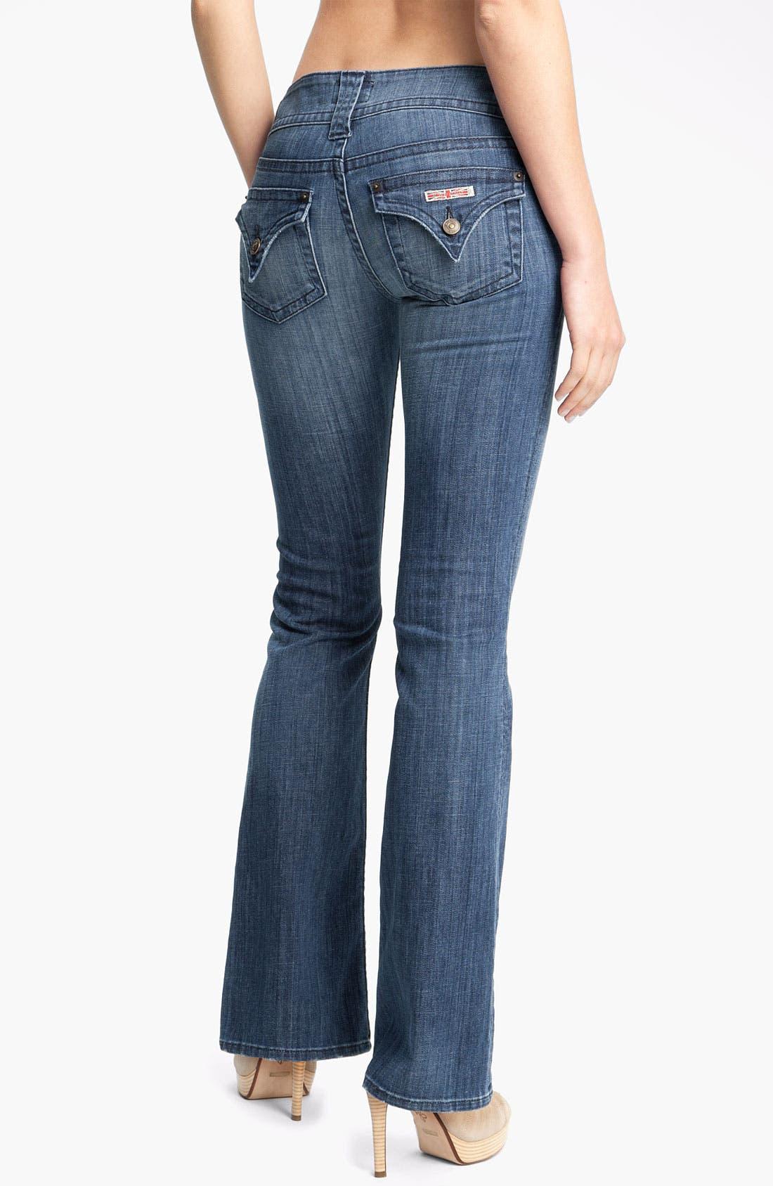 ,                             Signature Flap Pocket Bootcut Jeans,                             Alternate thumbnail 27, color,                             402