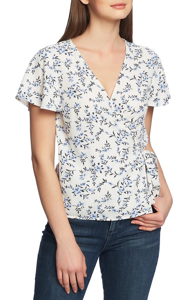 1.STATE Wrap Front Blossom Cluster Top, Main, color, 104
