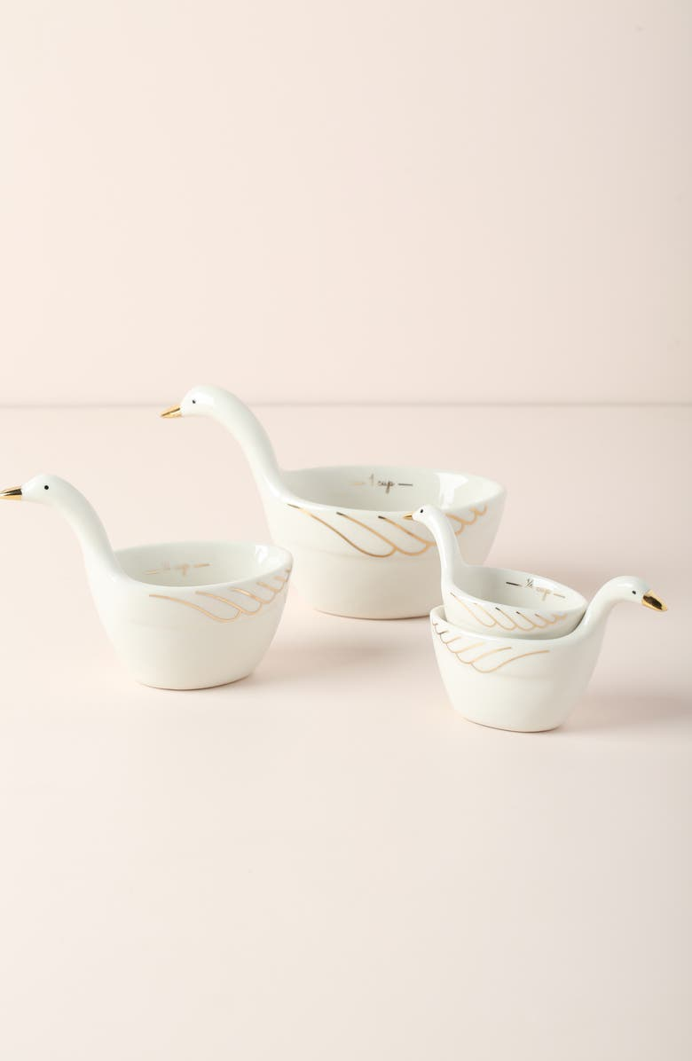 ANTHROPOLOGIE HOME Set of 4 Gaggle of Geese Measuring Cups, Main, color, 100
