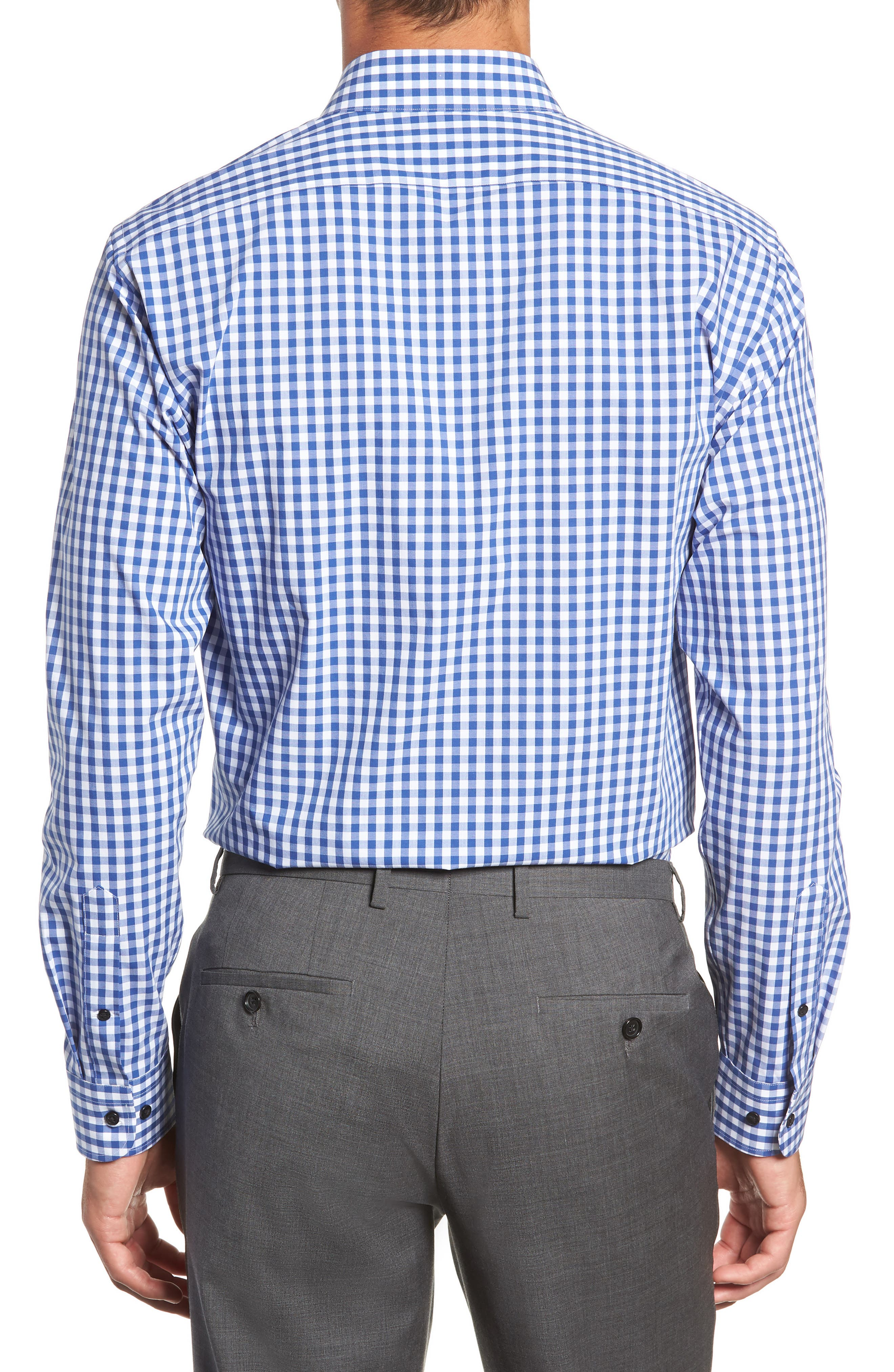 ,                             Tech-Smart Trim Fit Stretch Check Dress Shirt,                             Alternate thumbnail 29, color,                             420