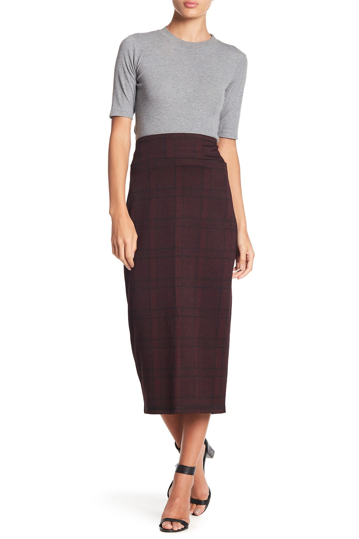 Image of 14th & Union Printed Pencil Midi Skirt