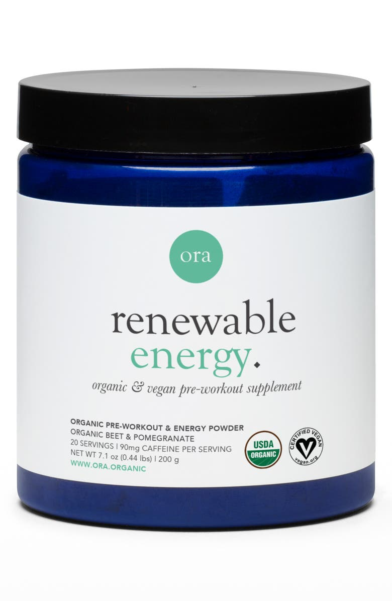 ORA ORGANIC Renewable Energy Organic & Vegan Pre-Workout Dietary Supplement Powder, Main, color, NO COLOR