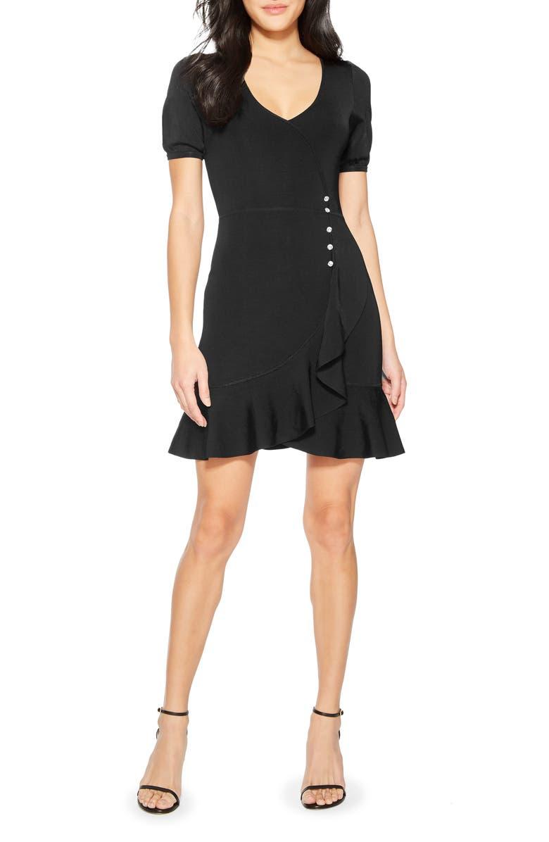 PARKER Galice Faux Wrap Minidress, Main, color, 001