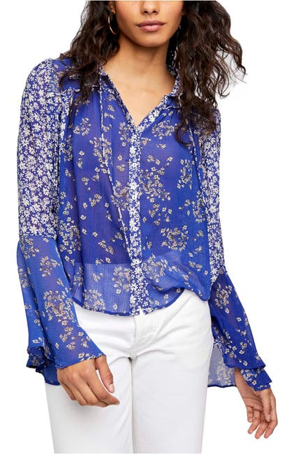 Free People Serena Print Button Up Blouse Nordstrom Rack
