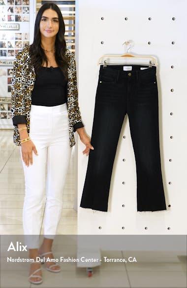 Le Crop Mini Raw Hem Bootcut Jeans, sales video thumbnail