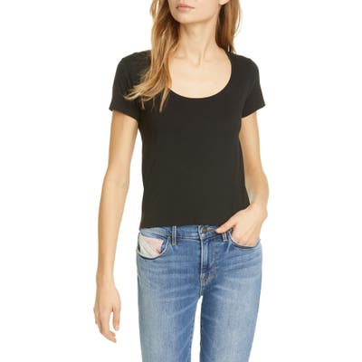 Frame Le Scoop Organic Cotton T-Shirt, Black