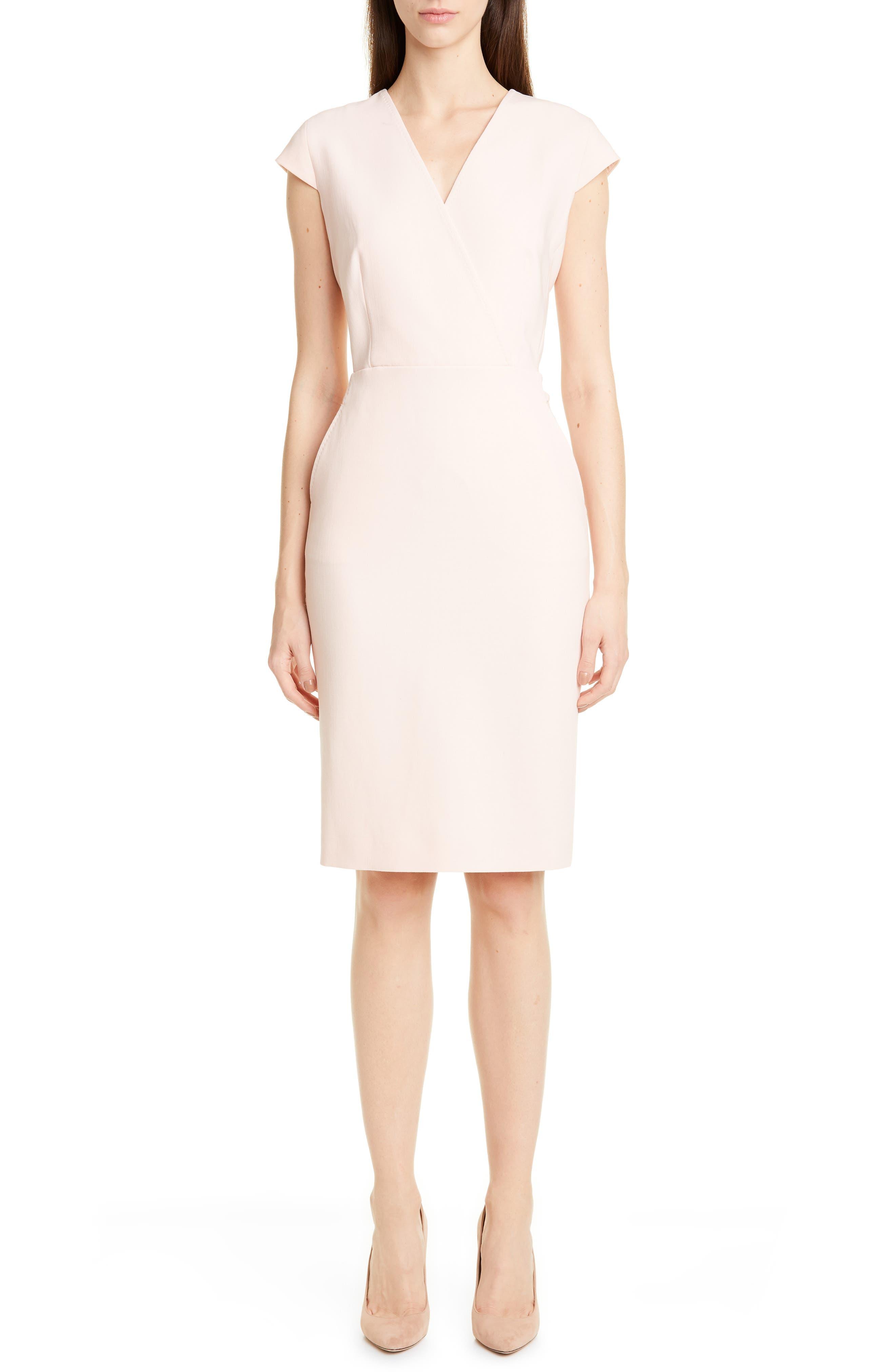 Max Mara Bill Stretch Wool Sheath Dress, Pink