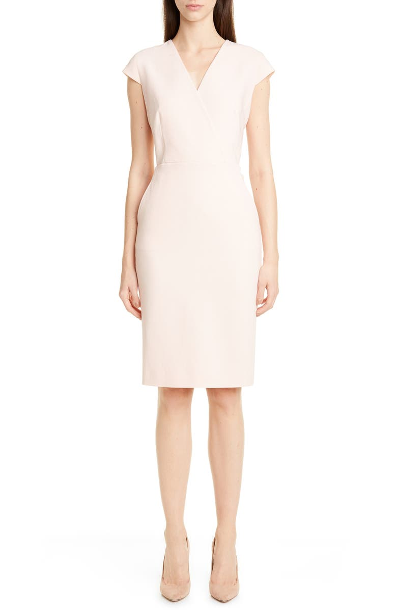 MAX MARA Bill Stretch Wool Sheath Dress, Main, color, PINK
