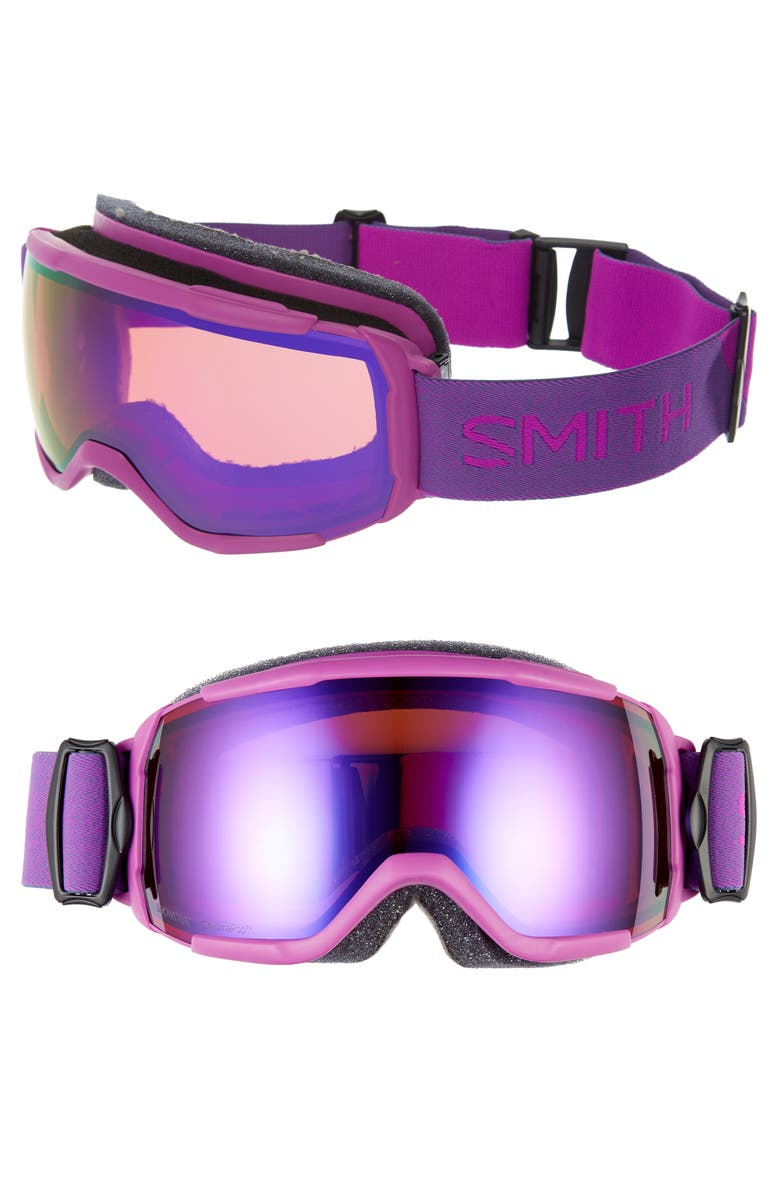 SMITH Showcase Over the Glass ChromaPop<sup>™</sup> 182mm Goggles, Main, color, FUCHSIA/ PURPLE