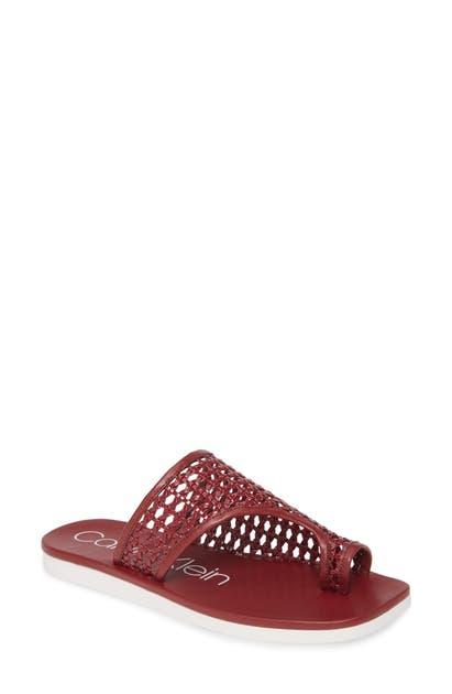 Calvin Klein Sandals RILLA WOVEN SLIDE SANDAL
