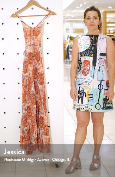 Paisley Print Cover-Up Chiffon Maxi Dress, sales video thumbnail
