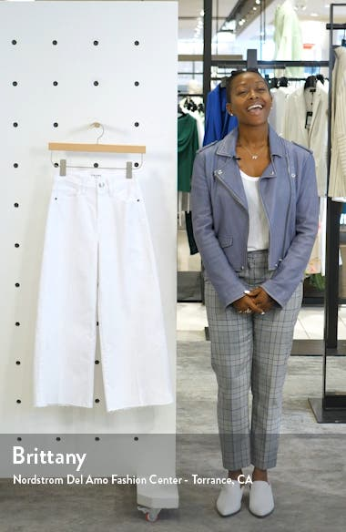 High Waist Crop Wide Leg Jeans, sales video thumbnail