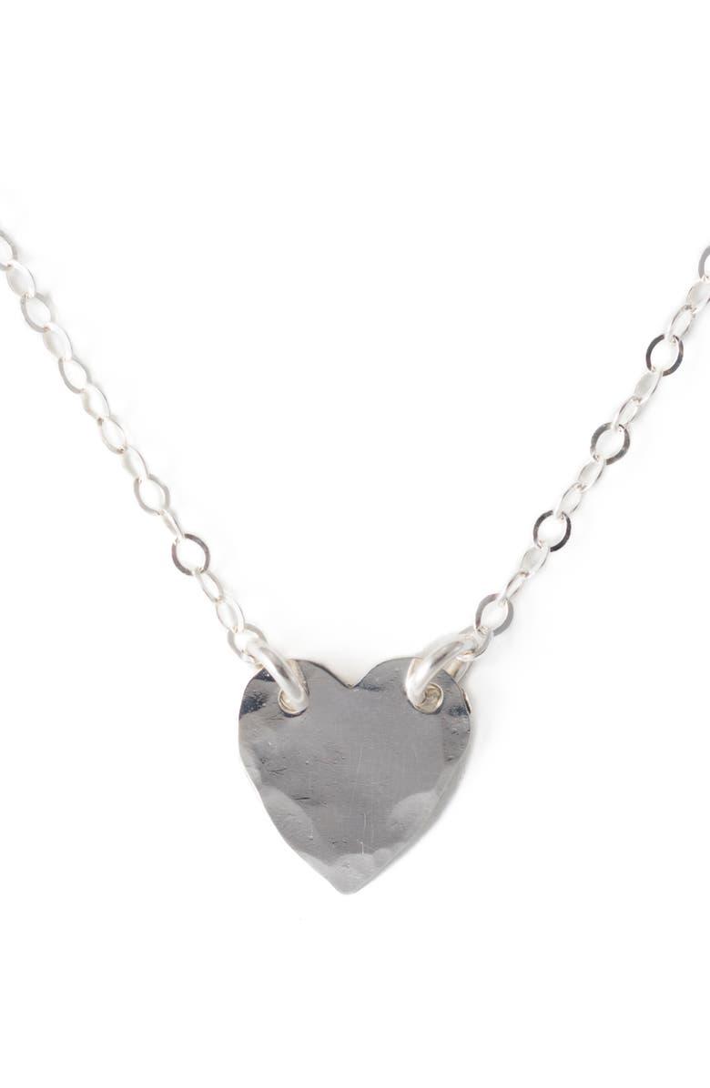 TERESSA LANE JEWELRY Heart Pendant Necklace, Main, color, SILVER