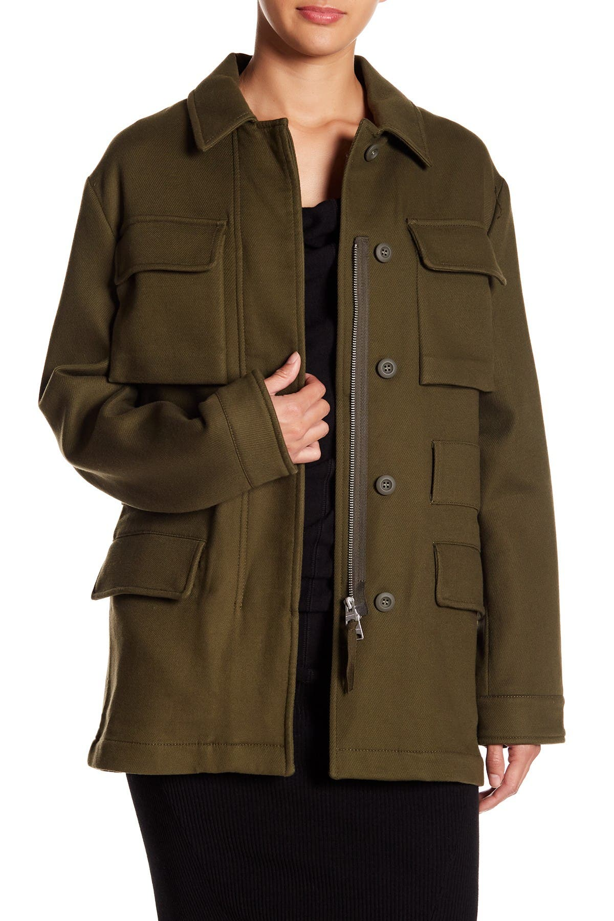 Image of ALLSAINTS Kaia Lamb Leather Jacket