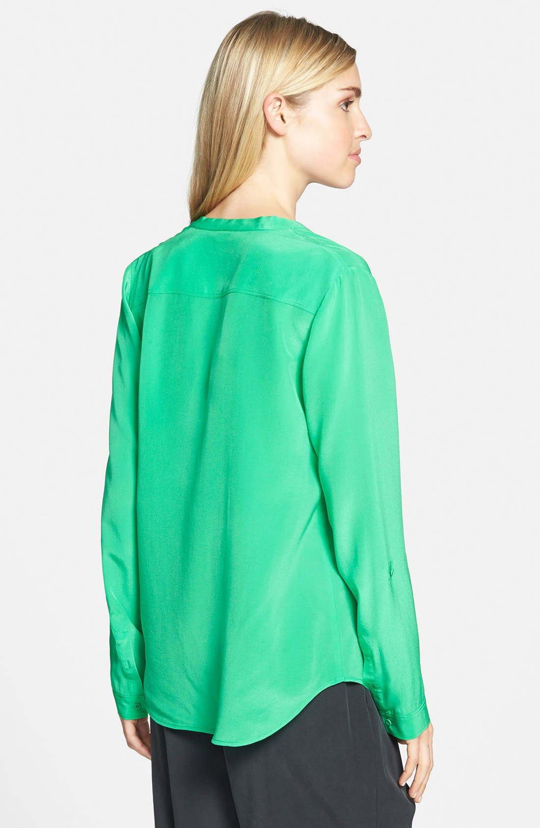 ,                             Collarless Silk Blouse,                             Alternate thumbnail 44, color,                             320