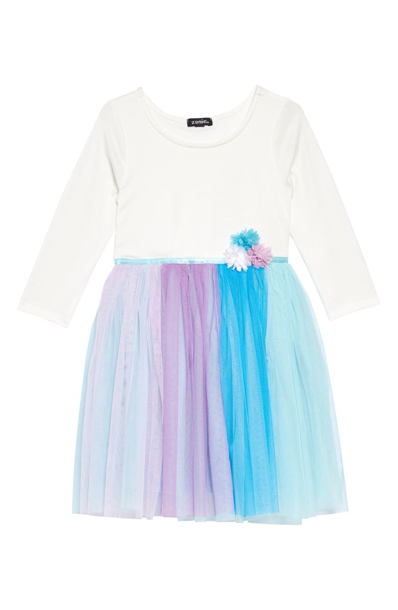 ZUNIE Unicorn Rainbow Skirt Dress, Main, color, 900