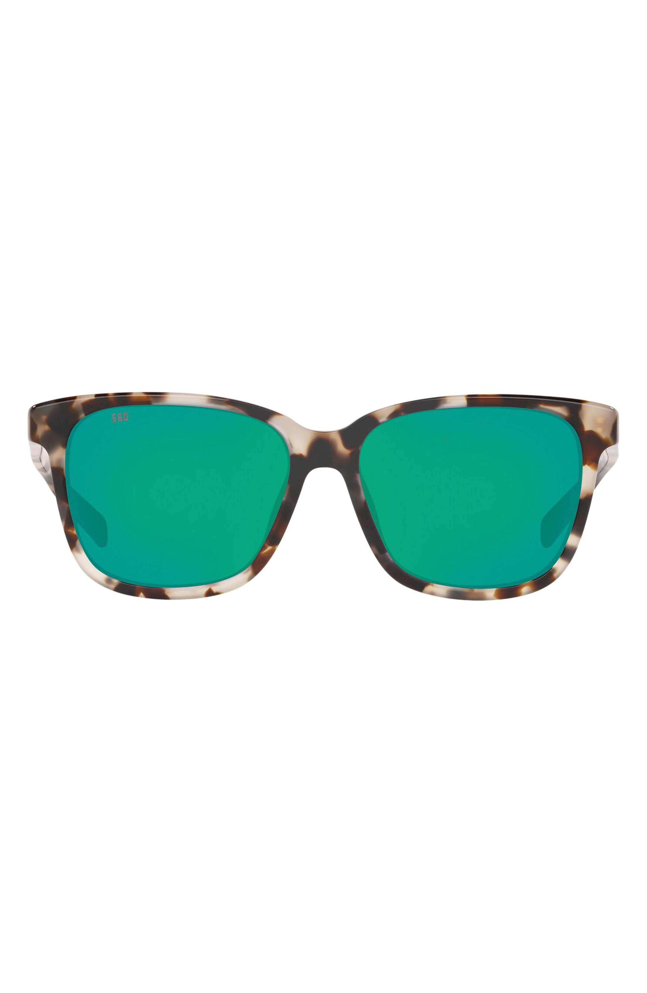 May 57mm Polarized Tinted Square Sunglasses