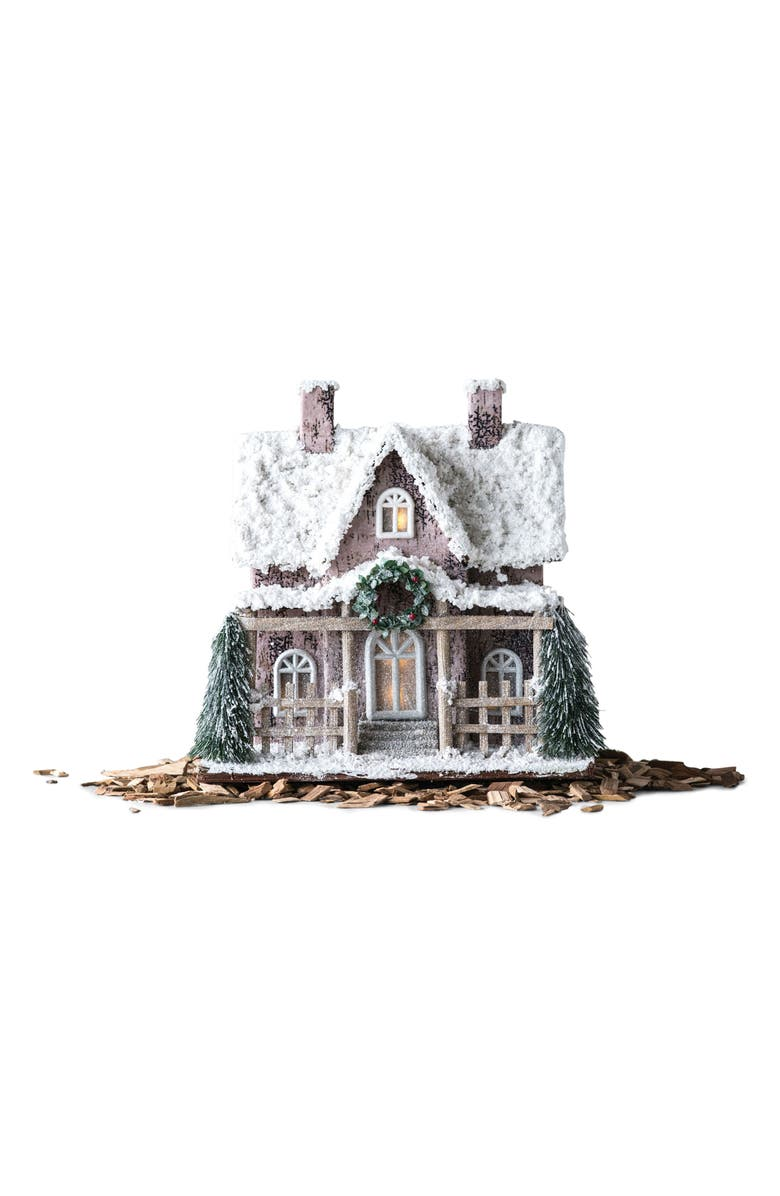 CREATIVE CO-OP LED Holiday House, Main, color, WHITE