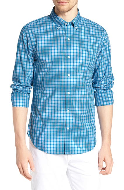 Image of Bonobos Summerweight Slim Fit Check Sport Shirt