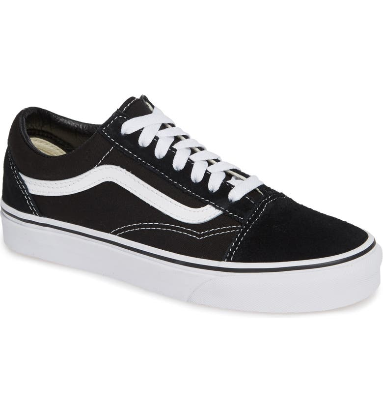 VANS 'Old Skool' Skate Sneaker, Main, color, BLACK/ WHITE SUEDE CANVAS