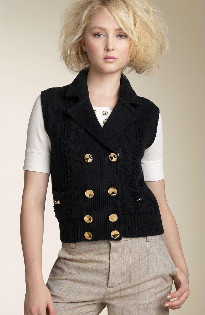 MARC BY MARC JACOBS 'Gladys' Sweater Vest, Main, color, 001