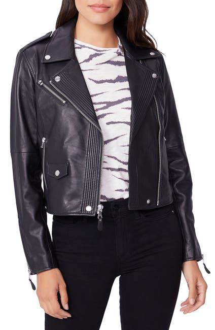 Image of PAIGE Danette Leather Moto Jacket