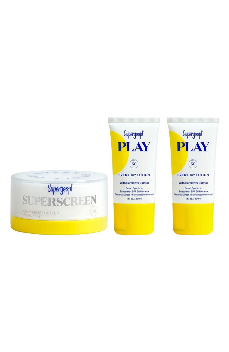 SUPERGOOP!<SUP>®</SUP> Supergoop! Superscreen Daily Moisturizer SPF 40 Sunscreen Set, Main, color, NO COLOR