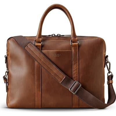 Shinola Navigator Leather Briefcase - Brown