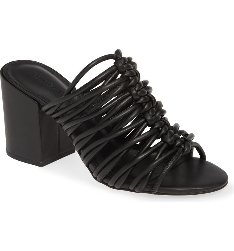 REBECCA MINKOFF Calanthe Slide Sandal, Main, color, BLACK NAPPA LEATHER