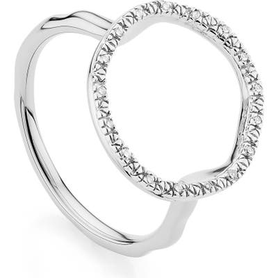 Monica Vinader Riva Circle Diamond Ring