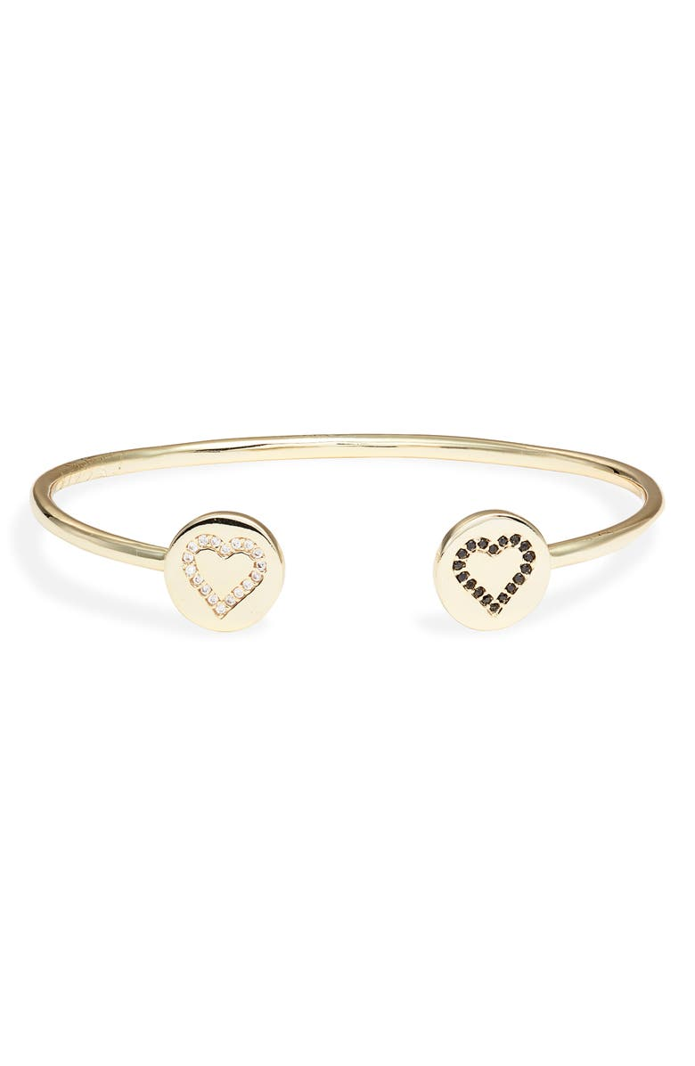 BRACHA All Heart Cuff Bracelet, Main, color, GOLD