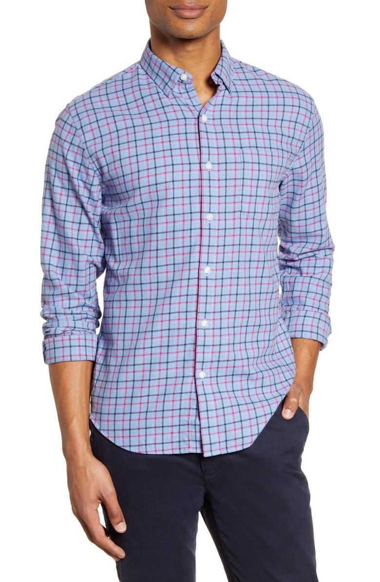 BONOBOS Slim Fit Plaid Flannel Button-Up Shirt, Main, color, 400